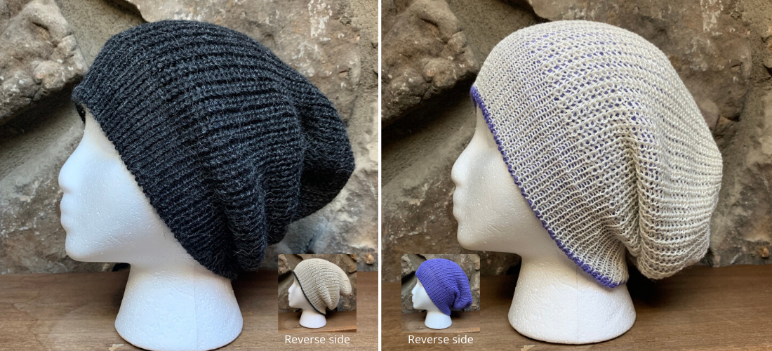Reversible Alpaca Slouchy Beanie by Peruvian Accent