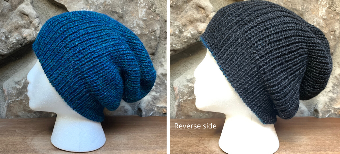 Reversible Alpaca Slouchy Beanie by Peruvian Accent.