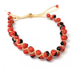 Open image in slideshow, Handmade Peruvian Huayruro seed, good luck bracelet. - Peruvian Accent