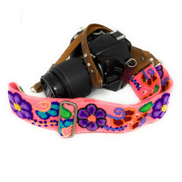 Peruvian Hand Embroidered, handmade Camera Strap.