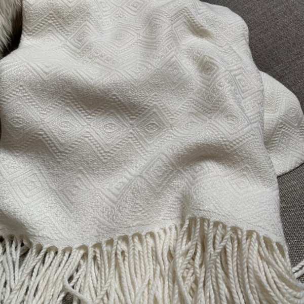 Royal Bone Alpaca Throw Blanket - Peruvian Accent