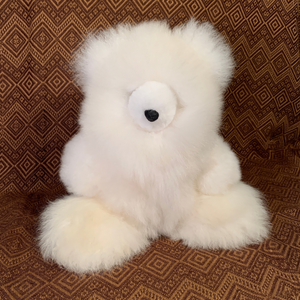 Handmade Luxury Baby Alpaca Fur, Large Teddy Bear. (Marshmallow)