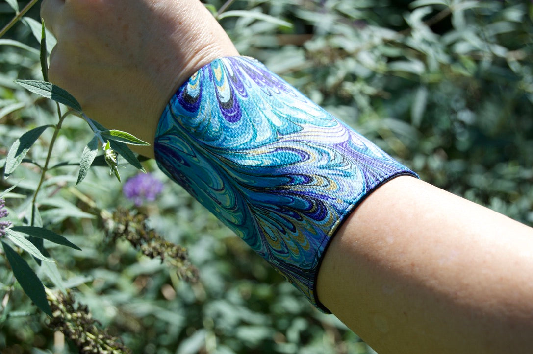 PURPLE PEACOCK WRIST or ANKLE WALLET
