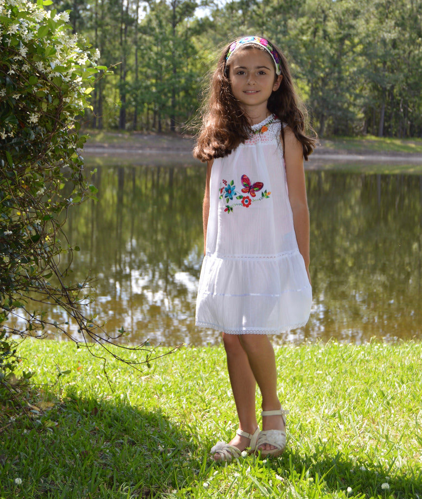 Copy of Girls Summer Dress (white) Size 8 - Peruvian Accent