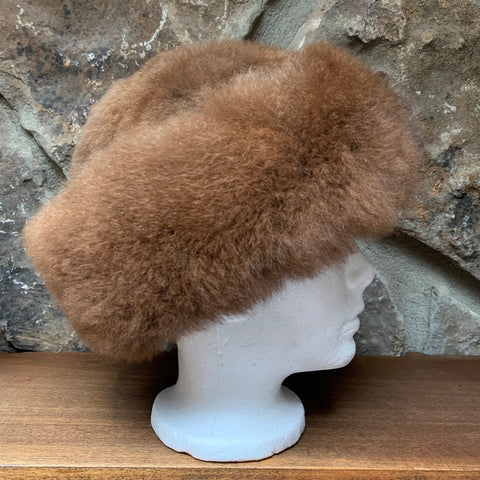 Luxury Alpaca Fur Hats. Brown
