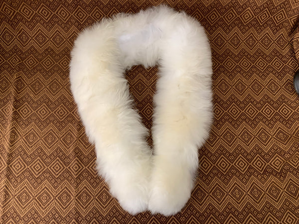 Long Baby Alpaca fur luxury scarf.