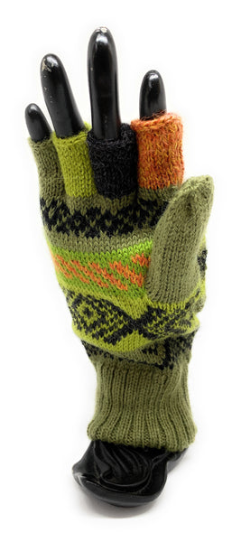 Alpaca flip back mitten gloves. Elegant and warm! Unisex. (multiple colors)