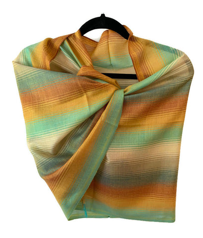 Pima cotton and silk scarf, shawl/ pashmina