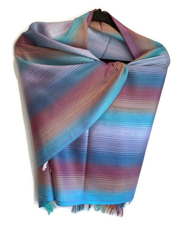 Pima cotton and silk scarf, shawl/ pashmina - Peruvian Accent