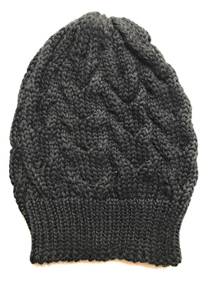 Open image in slideshow, Handmade Alpaca Cable Knit Beanie - Peruvian Accent