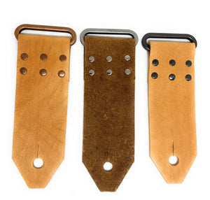 Open image in slideshow, Leather Handmade Guitar Strap End DIY kit - Peruvian Accent