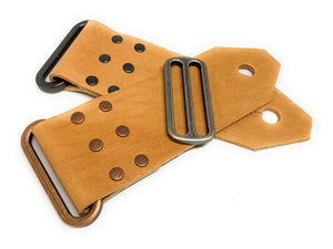Leather Handmade Guitar Strap End DIY kit - Peruvian Accent