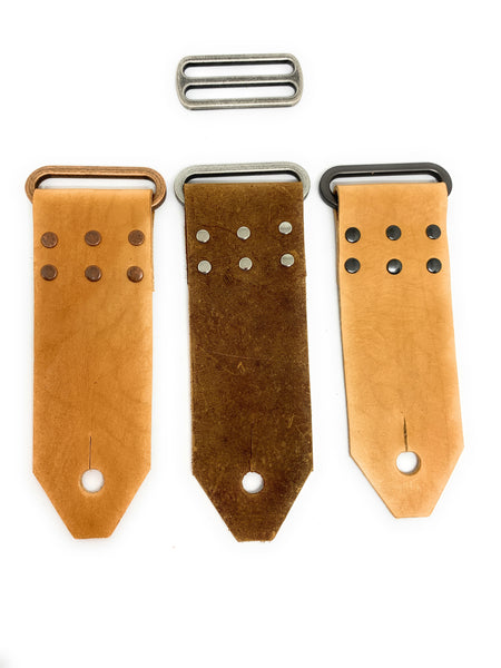 Leather Handmade Guitar Strap End DIY kit