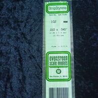 "Evergreen 102 Strip 0.010 x 0.040 x 14"" (10)"
