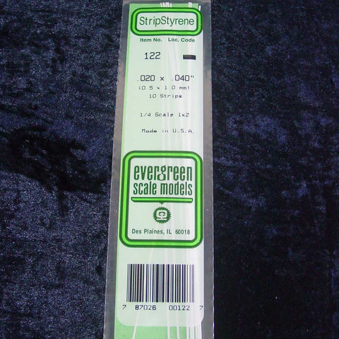 "Evergreen Strip 122 0.020 x 0.040 x 14"" (10)"