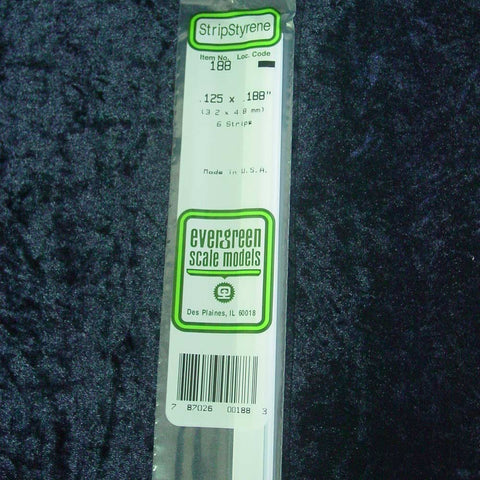 "Evergreen Strip 188 0.125 x 0.188 x 14"" (6)"