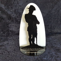 Tealight Lantern - WW1 Soldier, Small