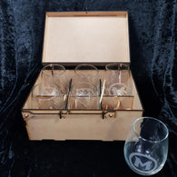 Glasses in presentation box
