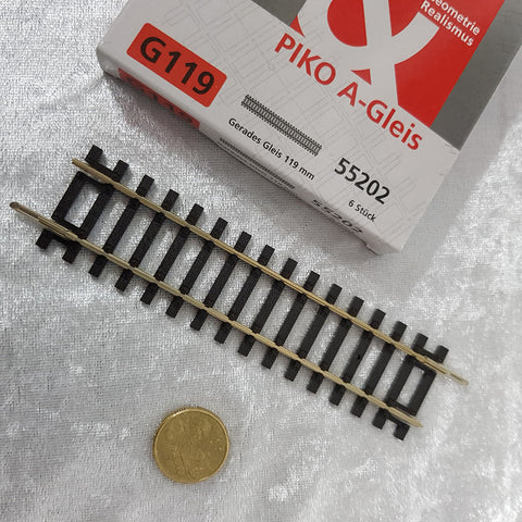 HO Straight Track 119mm - PIKO