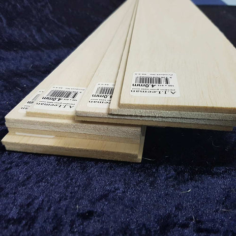"6.5mm x 75mm x 1220mm Balsa Wood Sheets 48/"" Long 1//4/"" x 3/"" x 48/"" 1220mm"