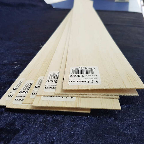 Balsa Sheet 915mm long 75mm wide - this product cannot be shipped, pickup only