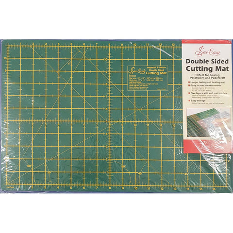 Cutting Mat, Double Sided, Medium 450x300mm inch grid