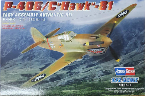 P-40B/C HAWK-81A 1:72 - HobbyBoss