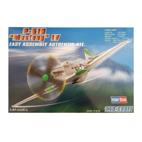 P-51D Mustang Fighter 1:72 - Hobbyboss
