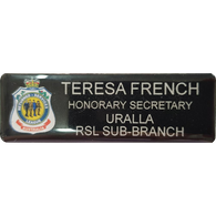 Nametag - Printed and Coated, RSL Position