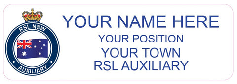 Nametag - Printed and Coated, RSL Auxiliary Position Option 1