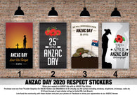ANZAC Day Stickers - 380x600mm (click to select one of the 4 options)