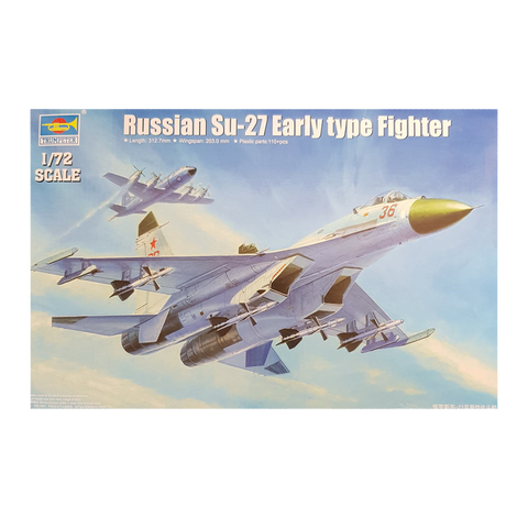SU-27 Early Type Fighter Russian 1:72 - Trumpeter