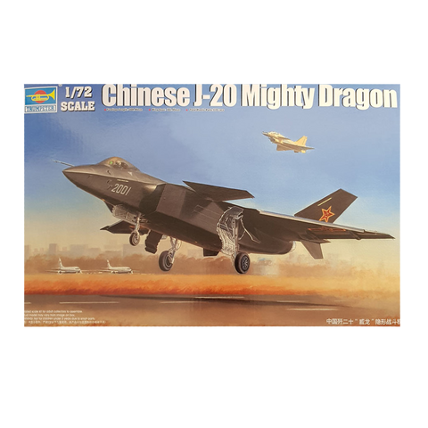 J-20 Fighter Chinese Mighty Dragon 1:72 - Trumpeter