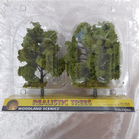 Trees, Realistic Light Green 2pk 5-6""