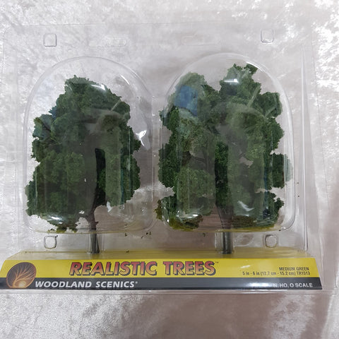 Trees, Realistic Medium Green 2pk 5-6""
