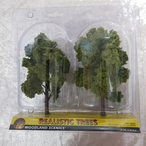 Trees, Realistic Light Green 2pk 6-7""