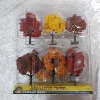 Trees, Realistic Fall Mix (Autumn) 6pk 3-5""