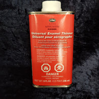 Airbrush Thinners, Testors Enamels 236ml 8Fl Oz (1/2 pint)
