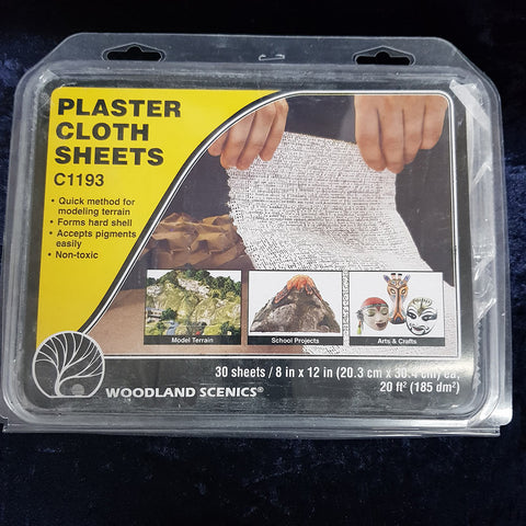 "Plaster Cloth (30) 8""x12"" sheets (185 dm2 20ft2)"