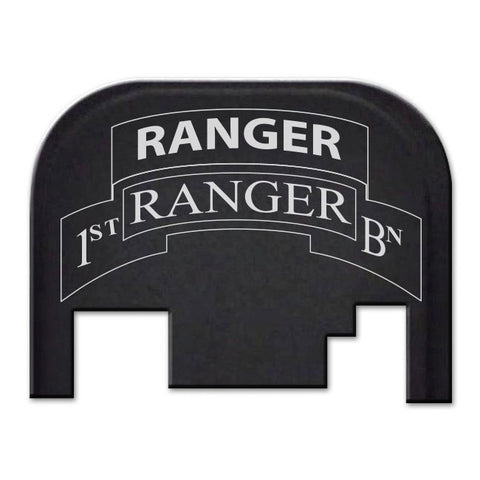 Glock 17-41 Backplate Engraved with 1st Ranger Battalion Logo