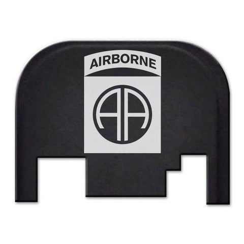 Glock 17-41 Backplate Engraved with Logo - 82nd Airborne Division