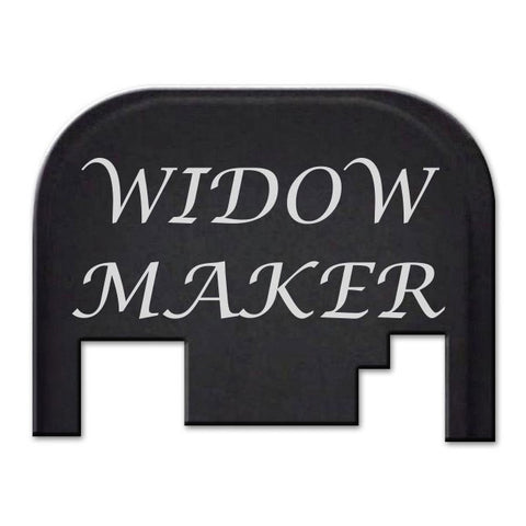 Glock 17-41 Backplate Engraved with Text - Widow Maker