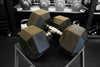 Rubber Hex Dumbbell Set: 5 lbs - 50lbs (550 lbs total)