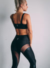 High Waist Mesh Legging - Black Sparkle: Yashel Athletics