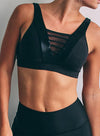 YV Bra - Black Sparkle: Yashel Athletics