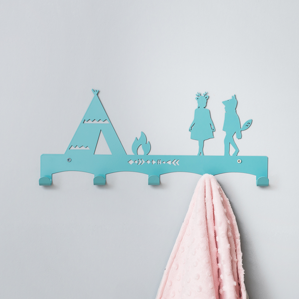 Teepee coat rack