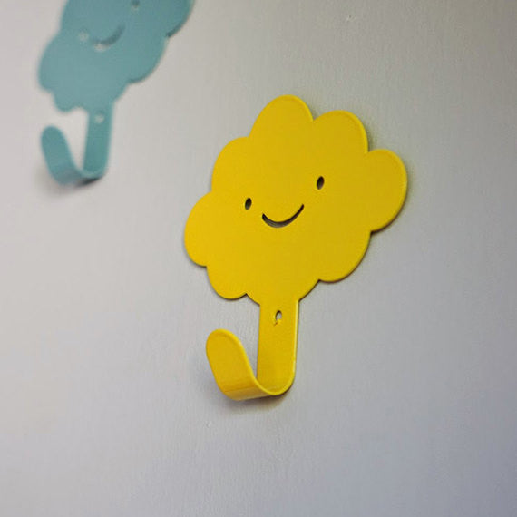 3 Cute smily clouds wall hooks