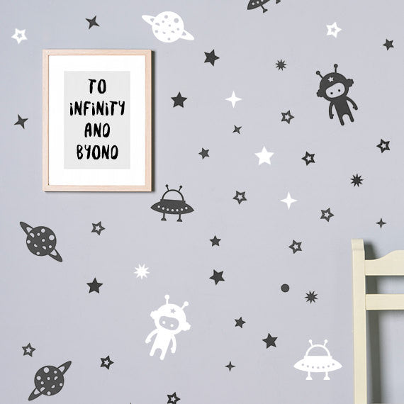 Space wall decal