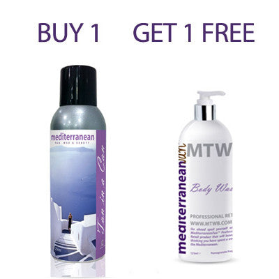 Mediterranean Tan In a Can BUY 1 GET 1 Body Wash Travel Size FREE