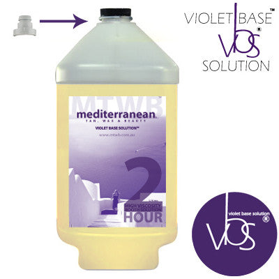 Mediterranean Tan High Viscosity 2 HOUR Booth Solution VBS Clear